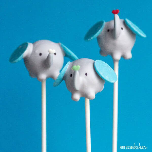 Making Elephant Cake Pops