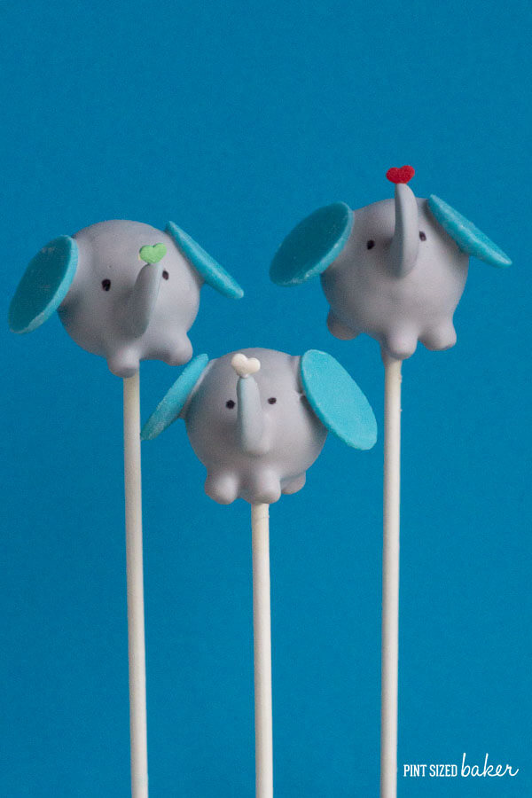 How To Make Elephant Cake Pops Pint Sized Baker