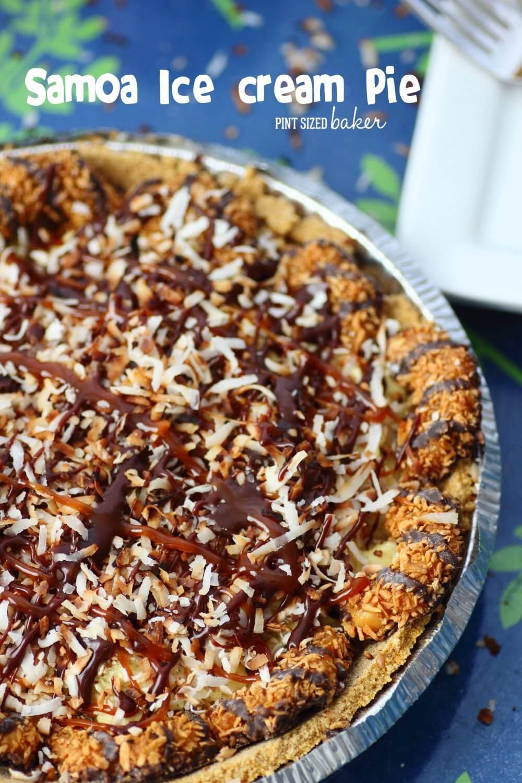 Samoa Ice Cream Pie