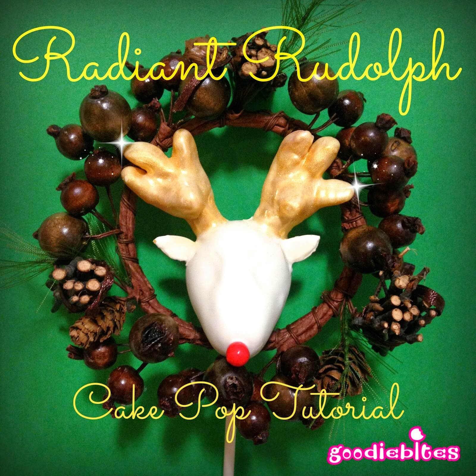 Rudolph Cake Pops from GoodieBites