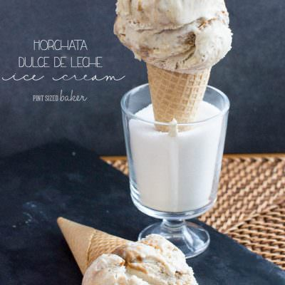4 ingredient Horchata Ice Cream