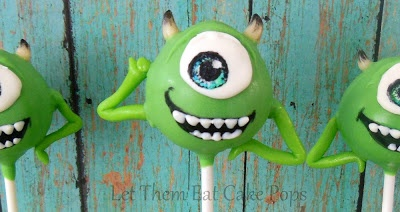 Monster's Inc. Mike Wazowski Cake Pops