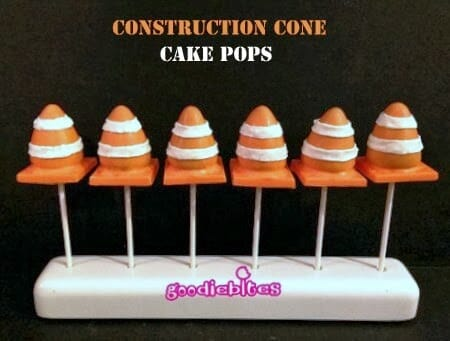 Construction Cone Cake Pops