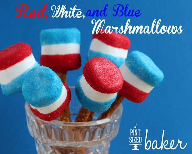 Red, White and Blue Giant Marshmallows