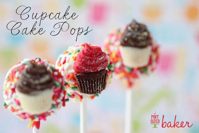 Rainbow Sprinkle Cupcake Cake Pops