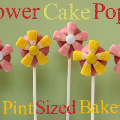 Flower Cake Pops and Review of Cake Pop Sealer
