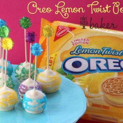 Oreo Lemon Twist Pops