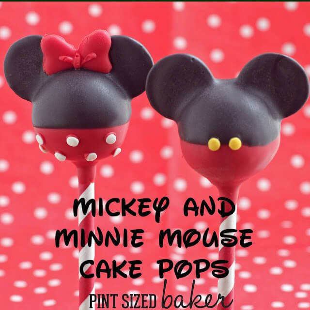Mickey Mouse Cake Pops Tutorial Mickey and Minnie Mous...