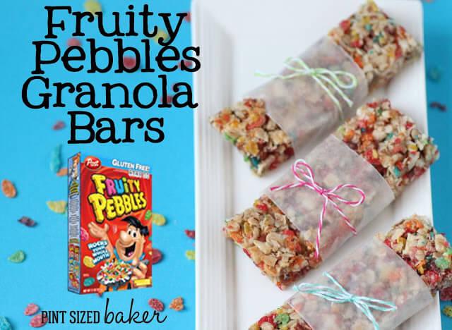 """Healthful"" Pebbles Cereal Granola Bars"