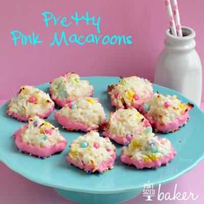 Pink Sprinkle Macaroons