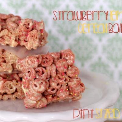 Strawberry Lemon Cereal Bars
