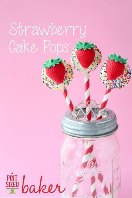 Strawberry Cake Pops with a Mold