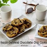 Rum Raisin Oatmeal Chocolate Chip Cookies