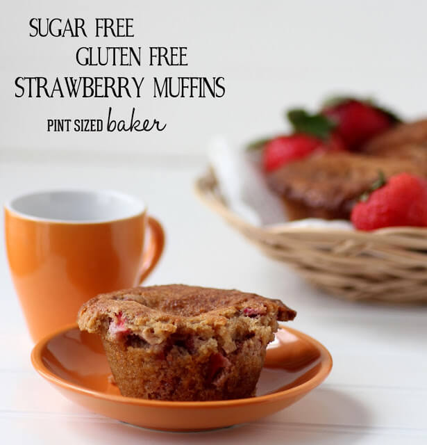 Sugar Free and Gluten Free Strawberry Muffins