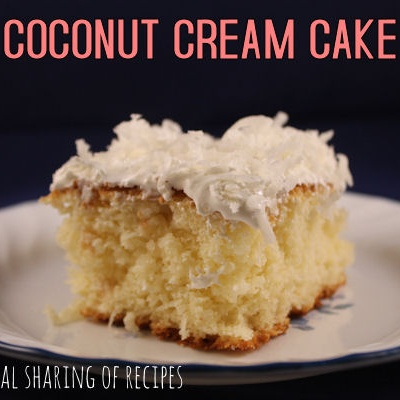 Coconut Cream Cake- Guest Post From Sarah