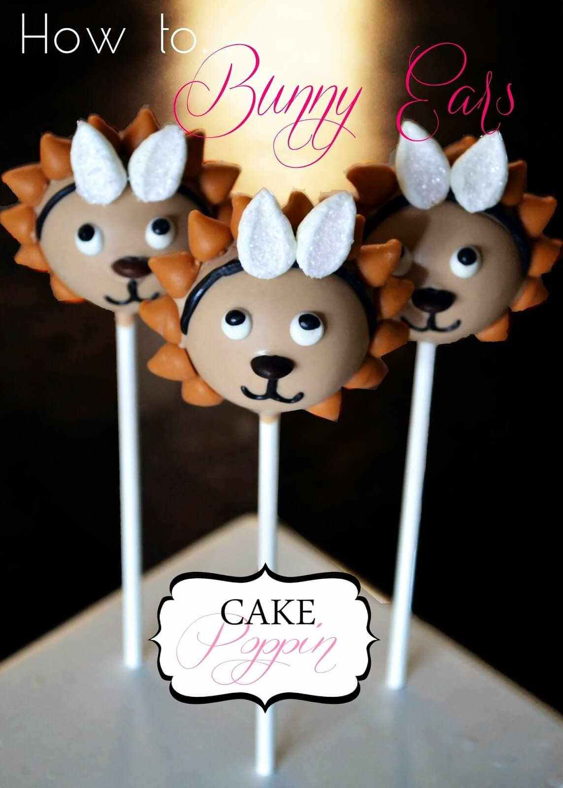 "Easter ""Bunny"" Lion Cake Pops from Cake Poppin"