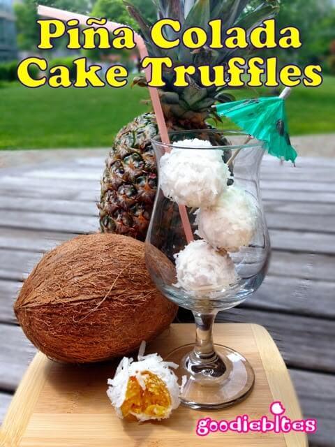 Piña Colada Cake Truffles