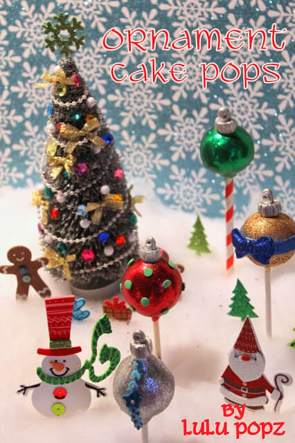 Cake Balls Decorated For Christmas : Christmas Ornaments Cake Pops - Pint Sized Baker