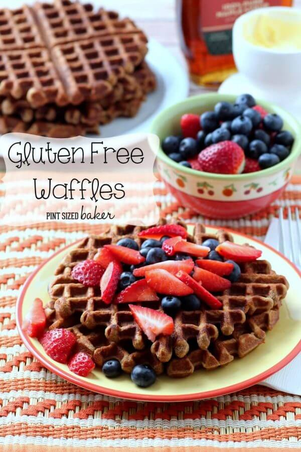 Gluten Free Waffles are easy and delicious. Pop them in to freezer and have then ready for the entire week!