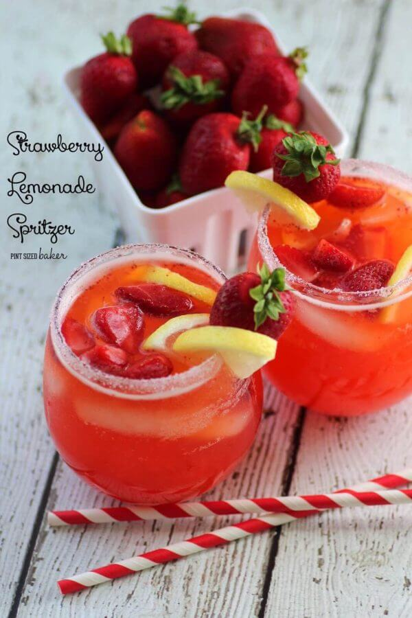 Cool sown with a Strawberry Lemonade Spritzer