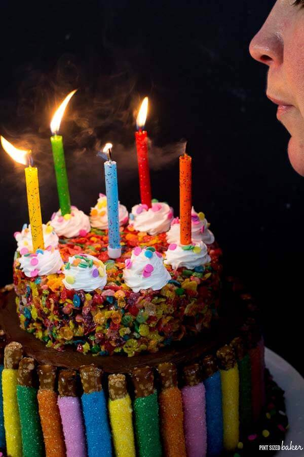 Make a wish and blow up the candles on this really fun cake made for my birthday!