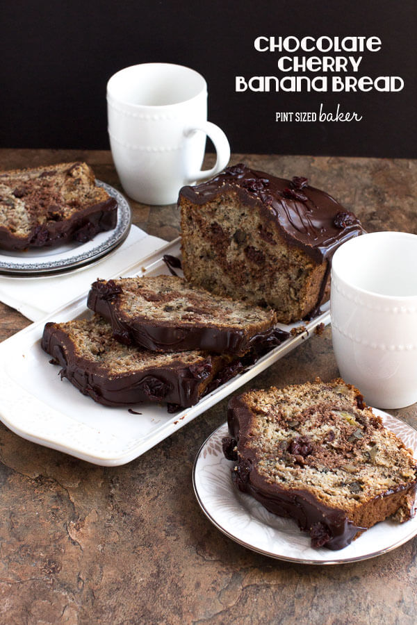 Chocolate Cherry Banana Bread