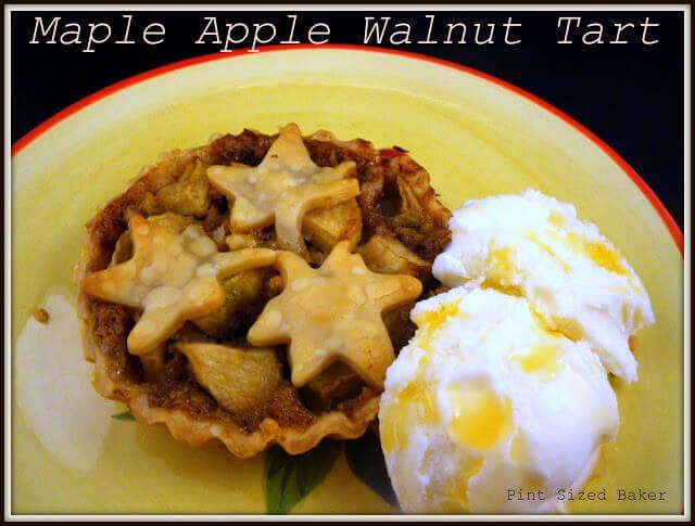 Maple Apple Walnut Tarts - Pint Sized Baker