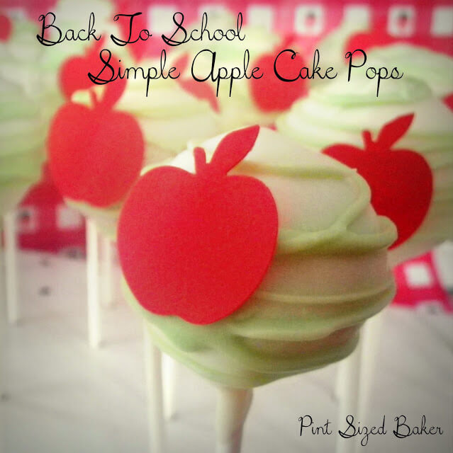 Simple Apple Design Cake Pops