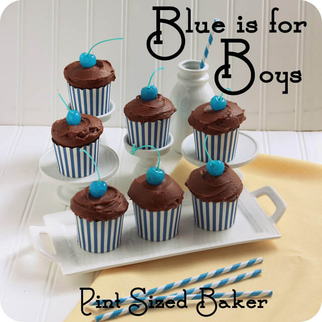 Blue is for Boys Cupcakes