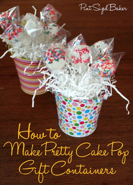 How to Make a Pretty Cake Pop Gift Container