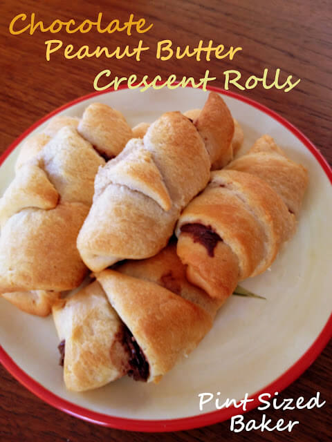 Chocolate Peanut Butter Crescent Rolls