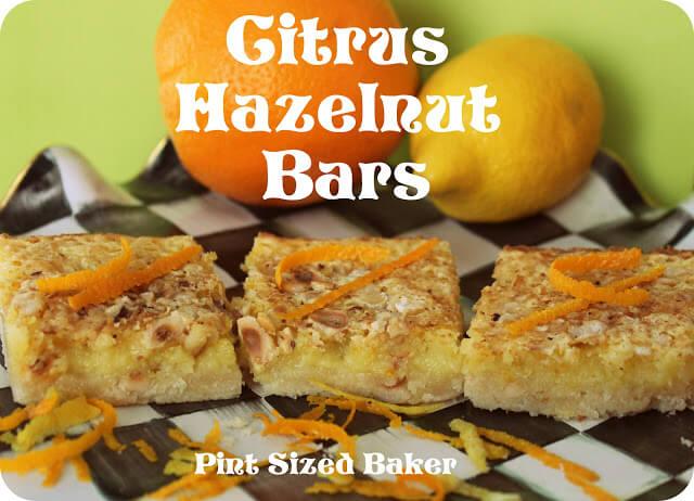 Citrus-Hazelnut Bars