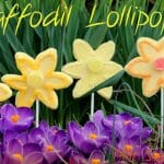 Easy Daffodil Lollipops that are sun to make with the kids!