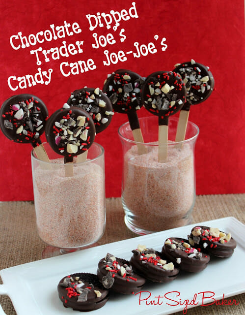 Chocolate Dipped Candy Cane Joe-Joe's