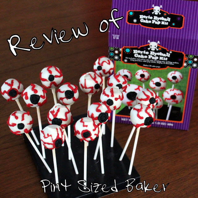 Review of Target's Eerie Eyeball Cake Pop Kit