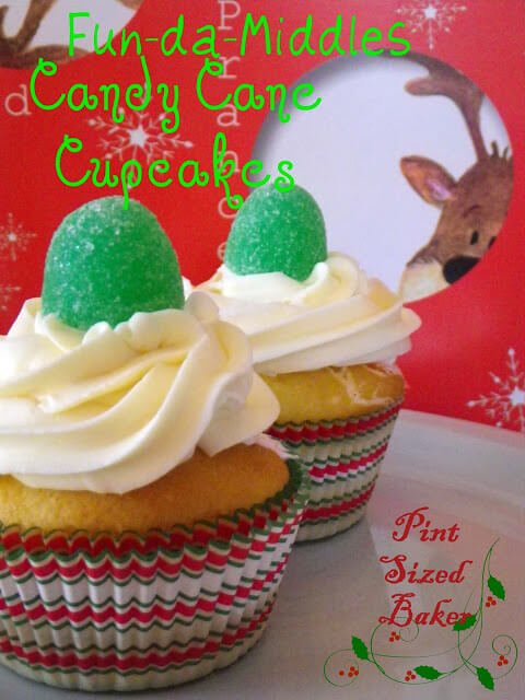 Fun-Da-Middles Candy Cane Cupcakes