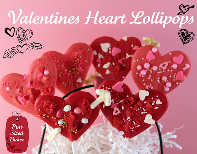 Valentines Heart Lollipops