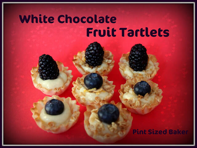 White Chocolate Fruit Tartlets