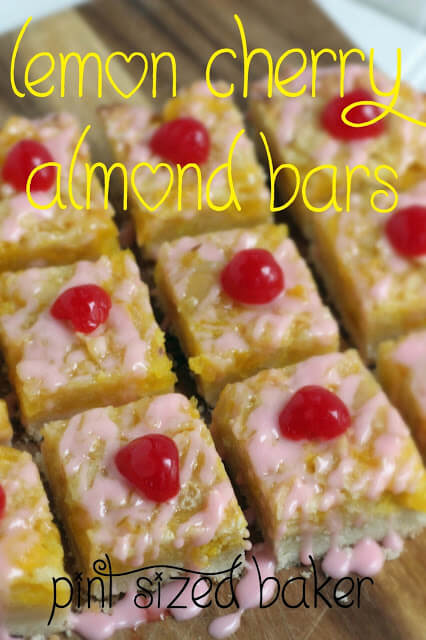 Lemon Cherry Almond Bars