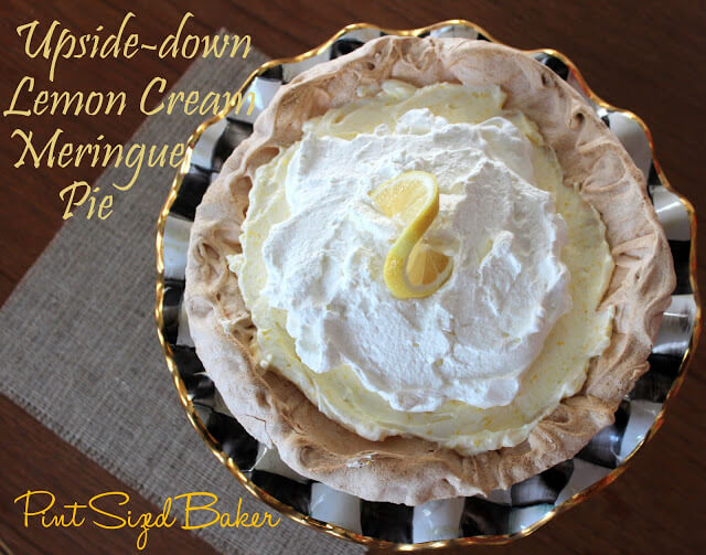 Upside-down Lemon Cream Meringue Pie