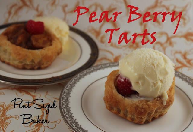 Cinnamon Pear Puff Pastry Tarts