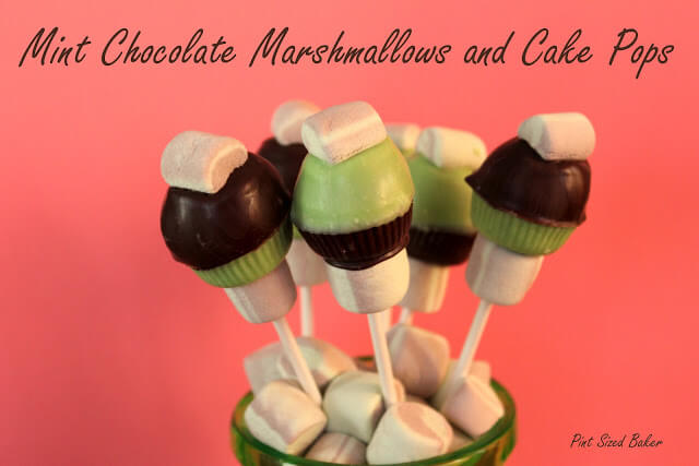 Mint Chocolate Marshmallow Cake Pops