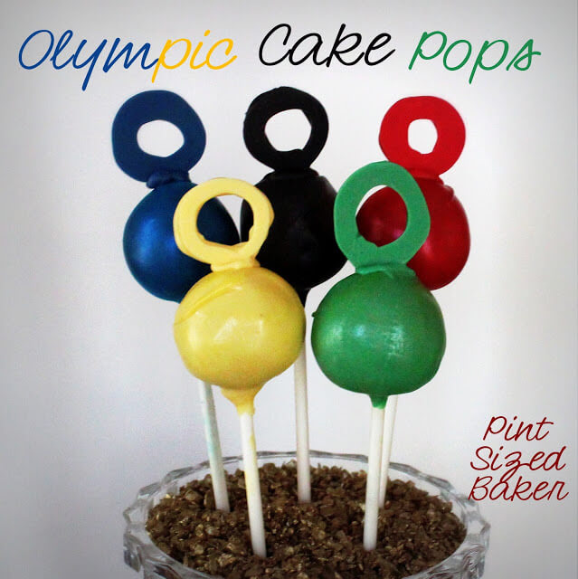 Go for the Gold – Olympic Cake Pops