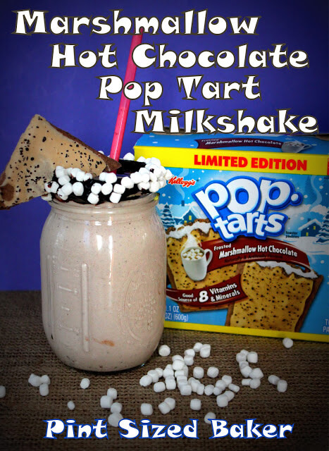 Marshmallow Hot Chocolate Pop Tart Milkshakes