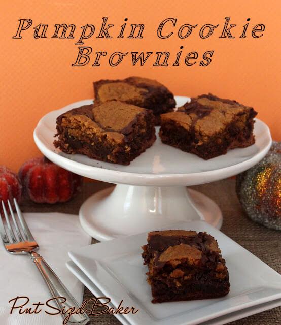Fudgy Brownies with Pumpkin Cookies