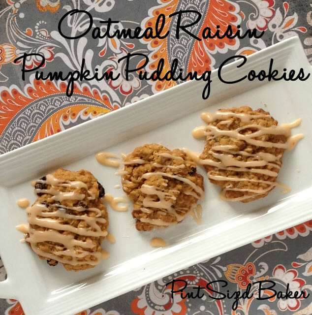 Oatmeal Raisin Pumpkin Pudding Cookies