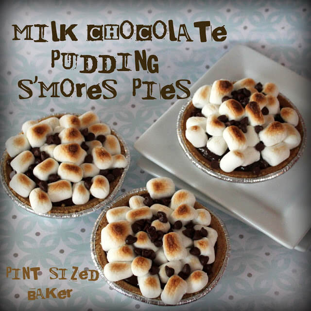Chocolate Pudding S'mores Pies