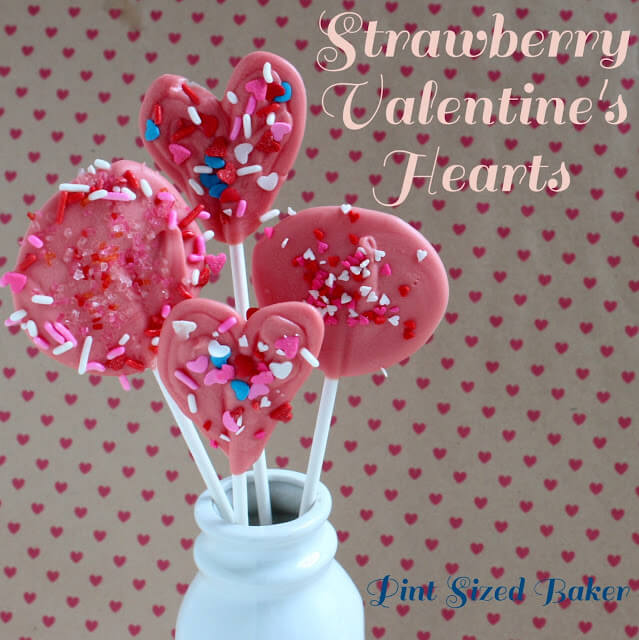 Strawberry Valentines Lollipops
