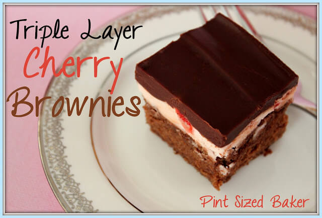 Triple Layer Cherry Brownies