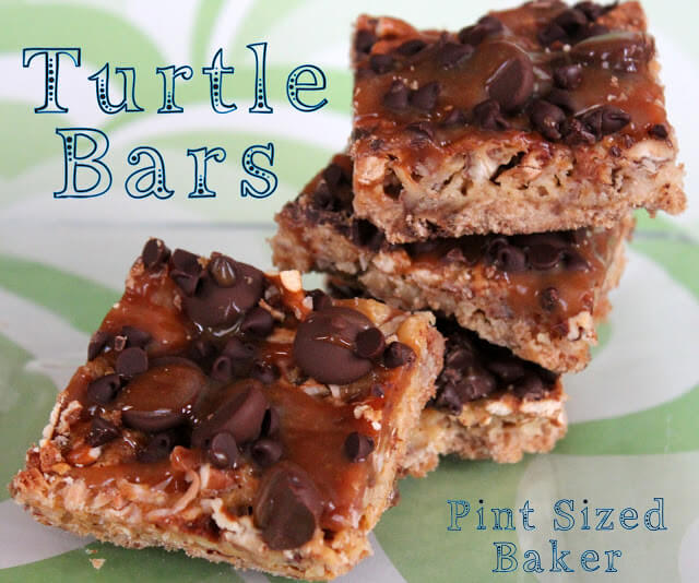 Turtle Shortbread Bars